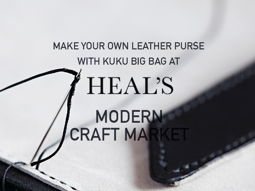 Master the old fashioned method of saddle stitching and burnishing by creating your own leather purse with Kuku Big Bag. Choose your colour, thread and design before stitch and finishing by debossing your initials onto the piece. Book your place here:  https://www.heals.com/kuku-big-bag.html#