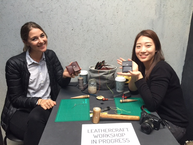 We ran leathercraft workshops throughout London Design Festival at Design Junction.