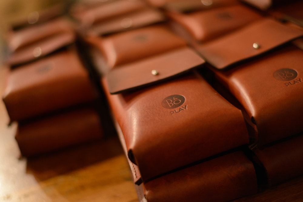 THE LEATHER POUCH  Handcrafted using Italian veg-tanned leather and traditional leather working techniques.