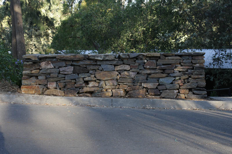 Traditional Dry Stone Wall. Belair, South Australia