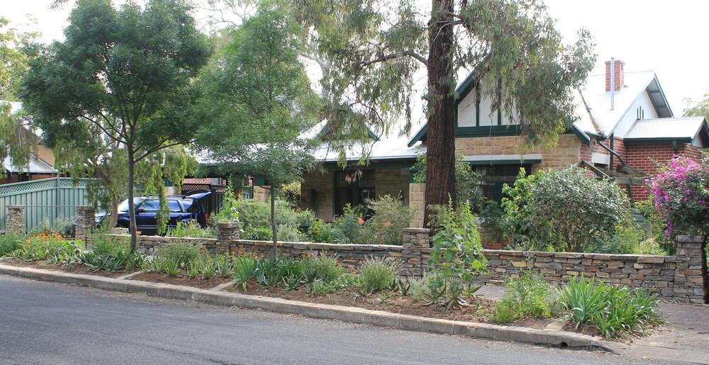 Kanmantoo Bluestone Dry Stone Wall. Kensington Gardens, South Australia
