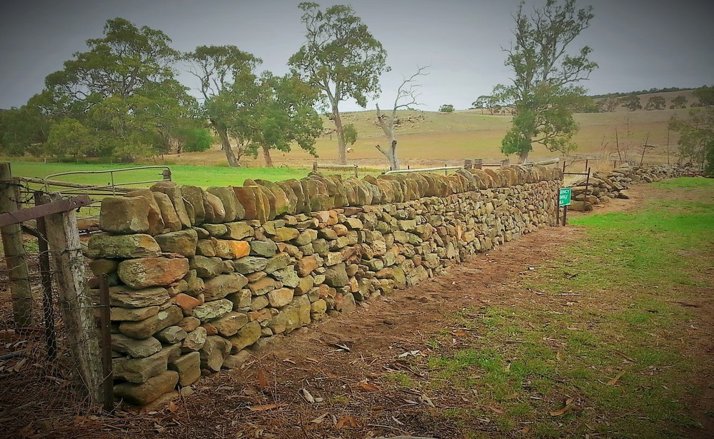 Historic Dry Stone Wall Rebuild Strathalbyn, South Australia