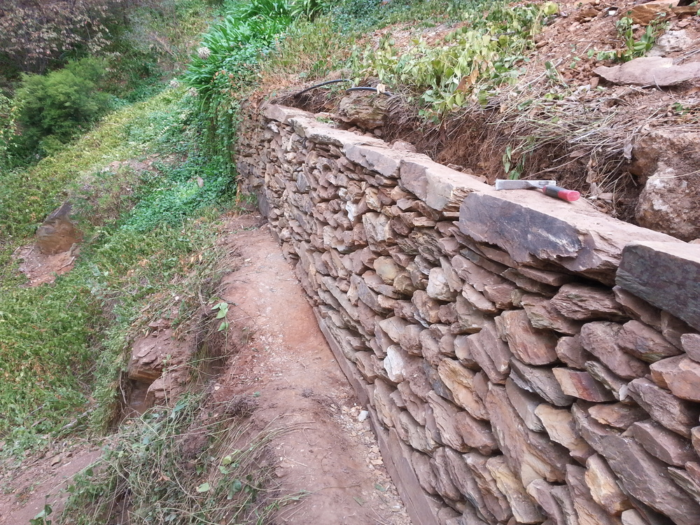 Historic Dry Stone Retaining Wall. Belair, South Australia