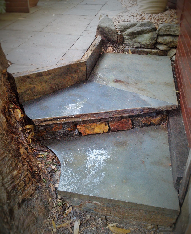 Willunga Slate steps. Aldgate, South Australia.