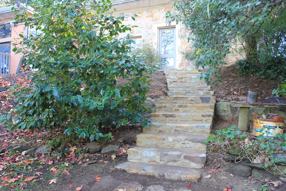 Steps constructed by JRM Stonework, Adelaide, South Australia