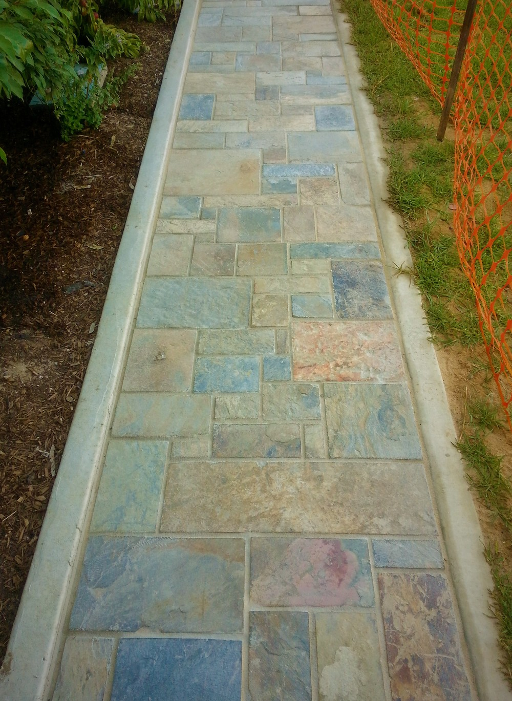 Kanmantoo Bluestone dimensioned paving. South Australia.