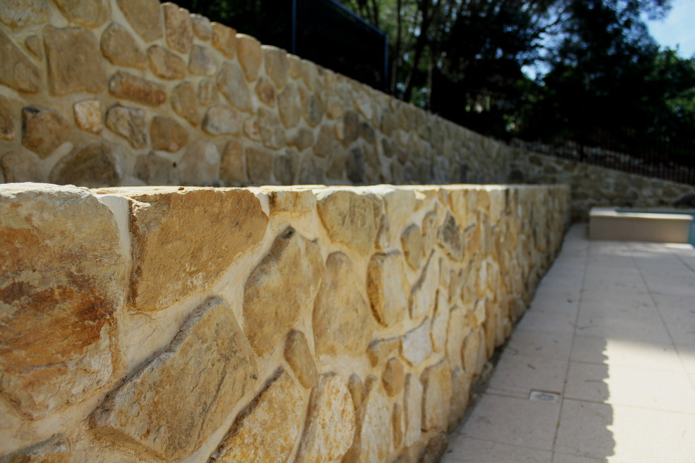 Retaining walls and steps. Belair, South Australia.