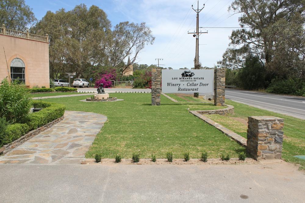 Kanmantoo Bluestone crazy paving. Rowland Flat, South Australia.