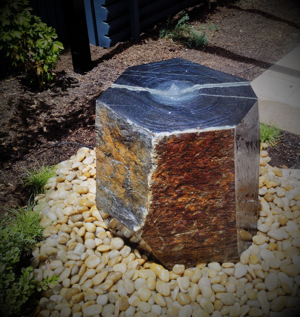 Kanmantoo Bluestone Water Feature. Adelaide, South Australia.