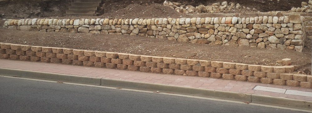Traditional Dry Stone Retaining Wall. Hallet Cove, South Australia