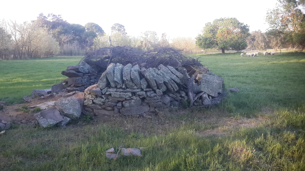 Dry Stone Well Head Before Rebuild, Mt Pleasant, South Australia