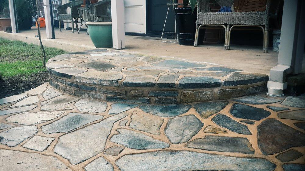 Kanmantoo Bluestone crazy paving. St Morris, South Australia.