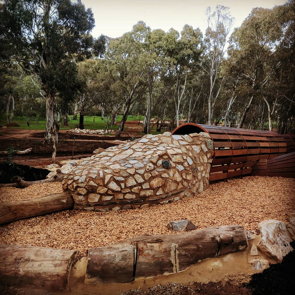 Stonyfell Quartzite Snakes Head Playground Feature. Morialta, Adelaide, South Australia