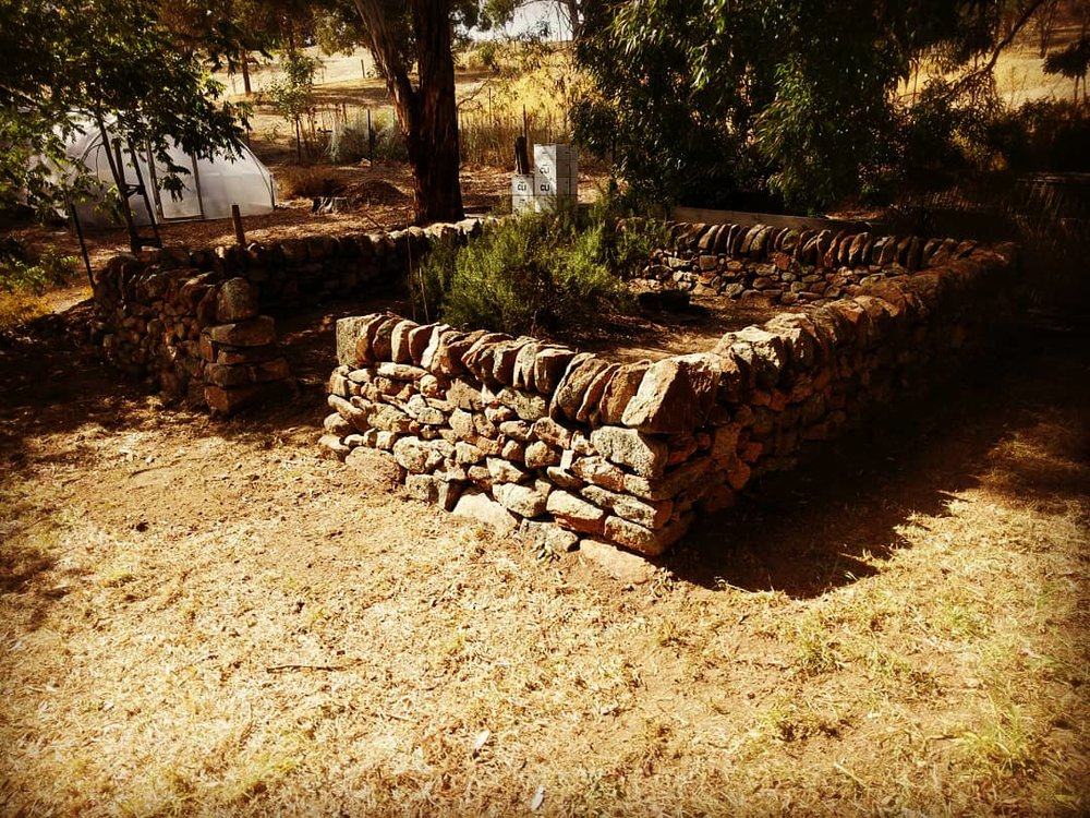 Dry Stone Walled Garden. Humbug Scrub, South Australia