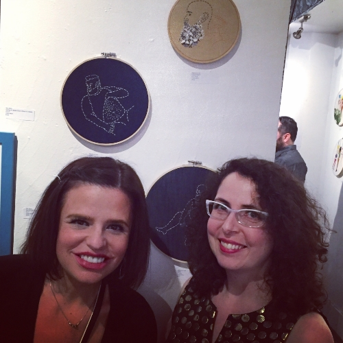 A highlight of the weekend: Meeting the lovely Brooklyn artist Rebecca Levi, in front of her gorgeous stitched men.