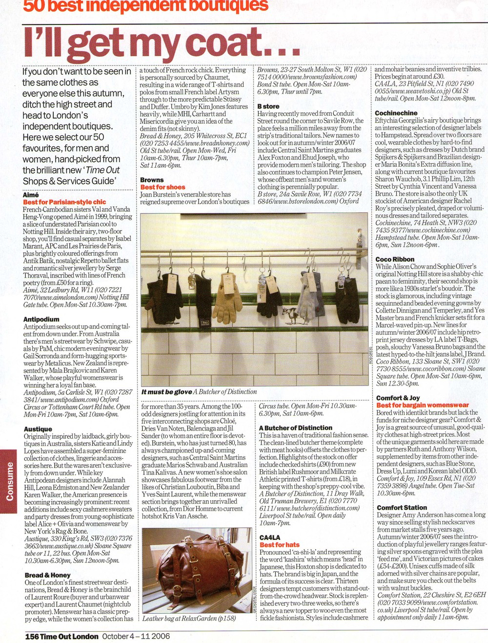 Time out London 4-11.10.06 artical 1of2.jpg
