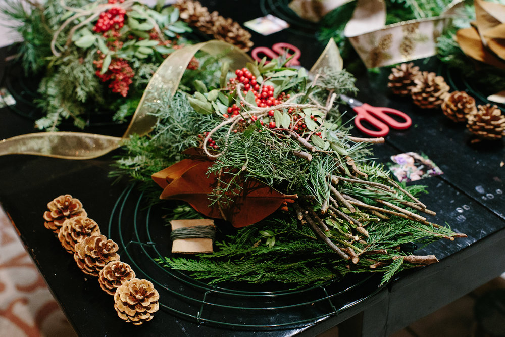 Oakmoss Collective Wreath Workshop