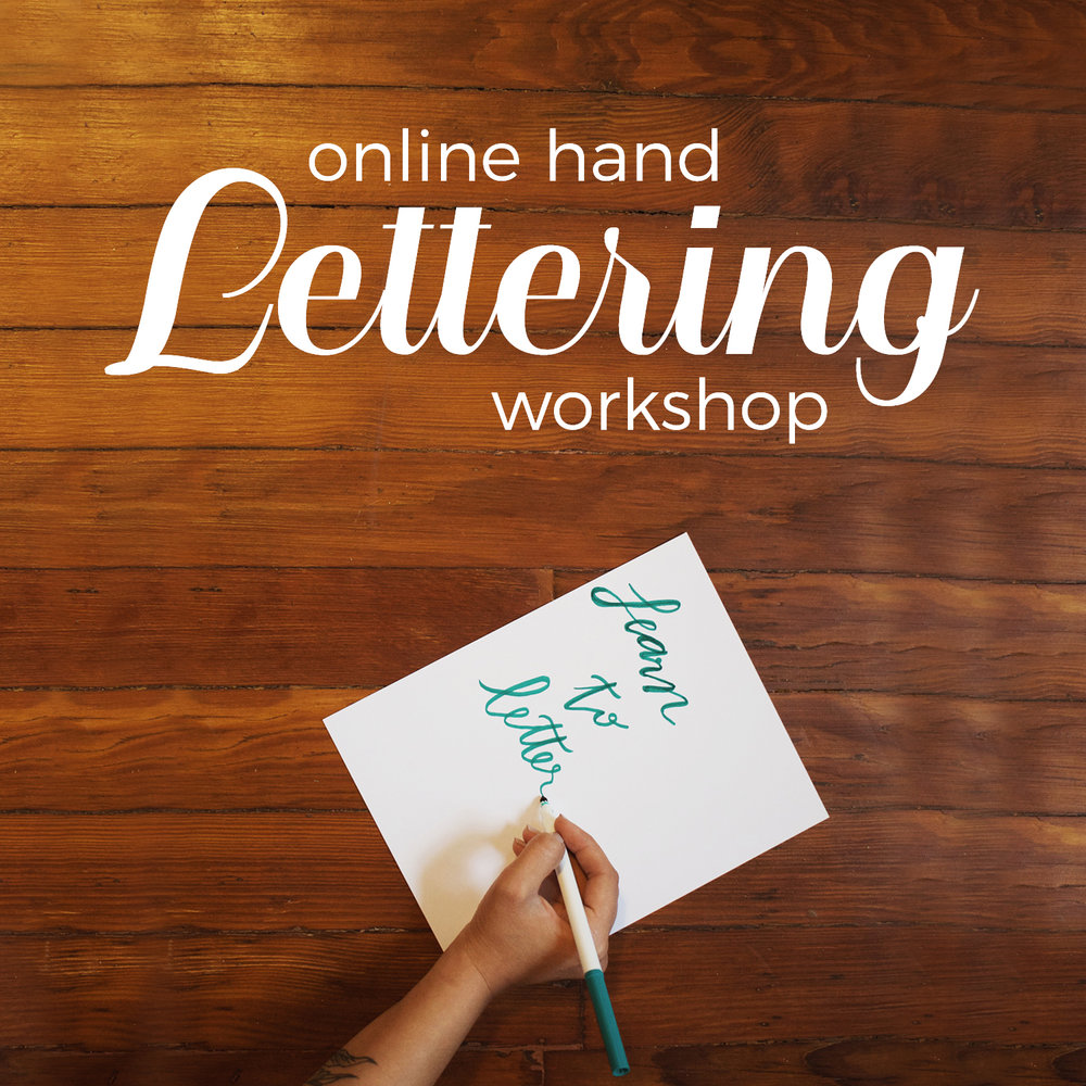 Oakmoss Collective Handlettering Workshop