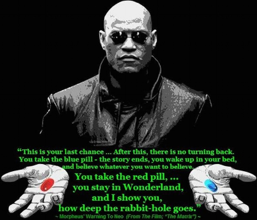 Don't stay in the career Matrix, take the red pill from Morpheus!!