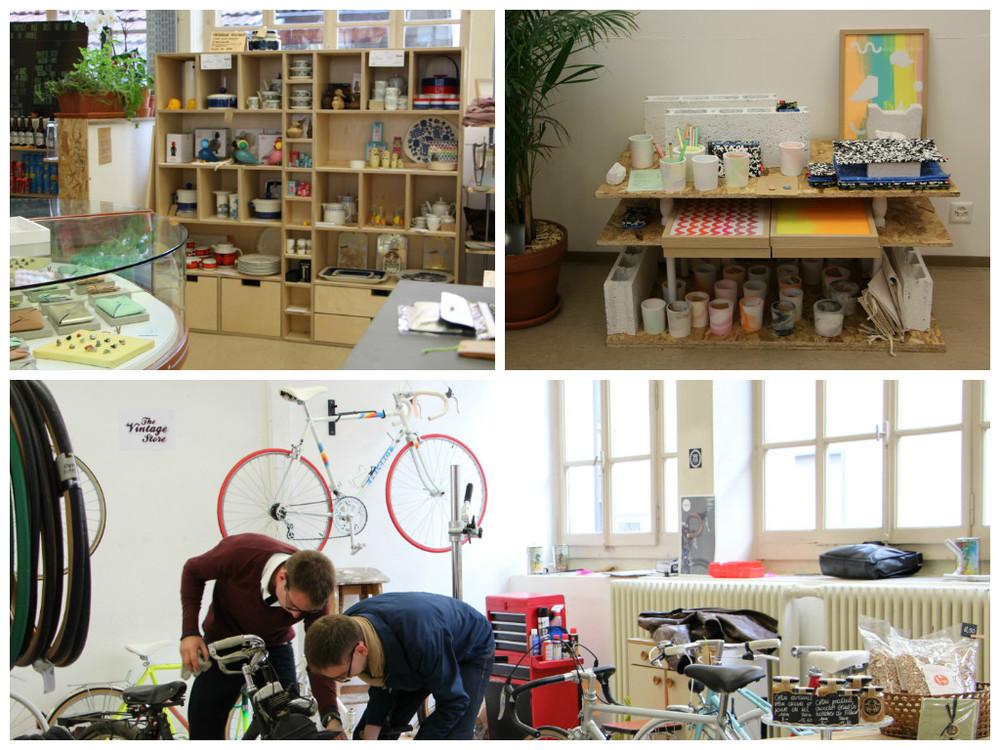 Le Shop et l'atelier de vélo vintage.