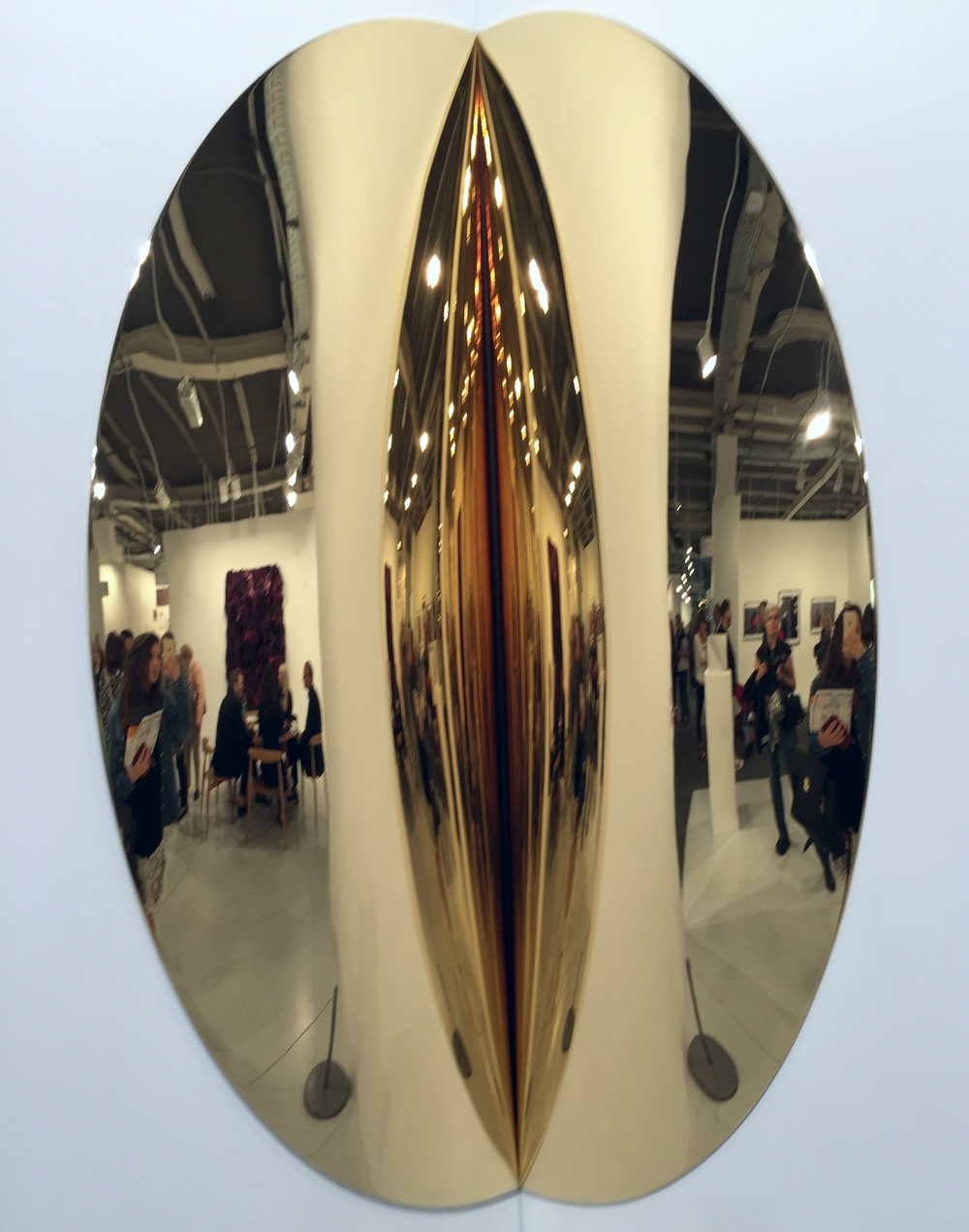 Anish Kapoor | Untitled, 2015, fibre glass and gold