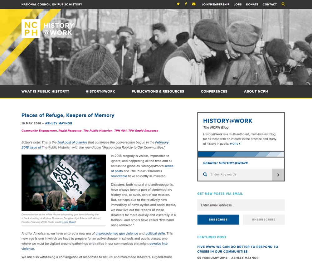 history@work homepage