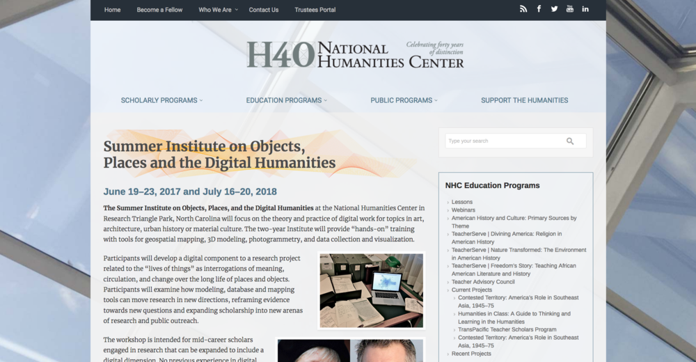 Website for the Institute
