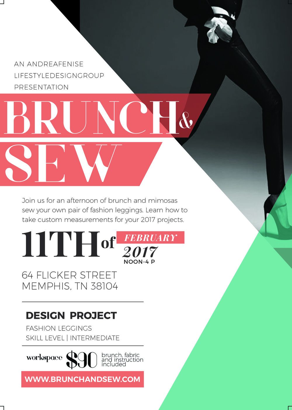 Brunch and Sew by Andrea Fenise Lifestyle Design Group's February event