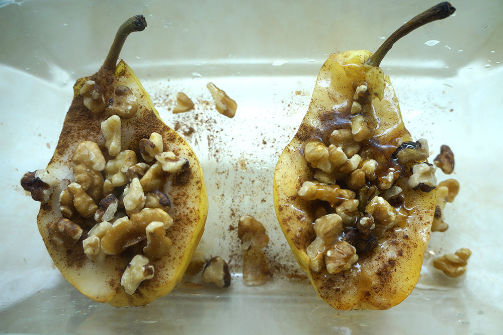 Brunch and Sew Baked Pear Recipe