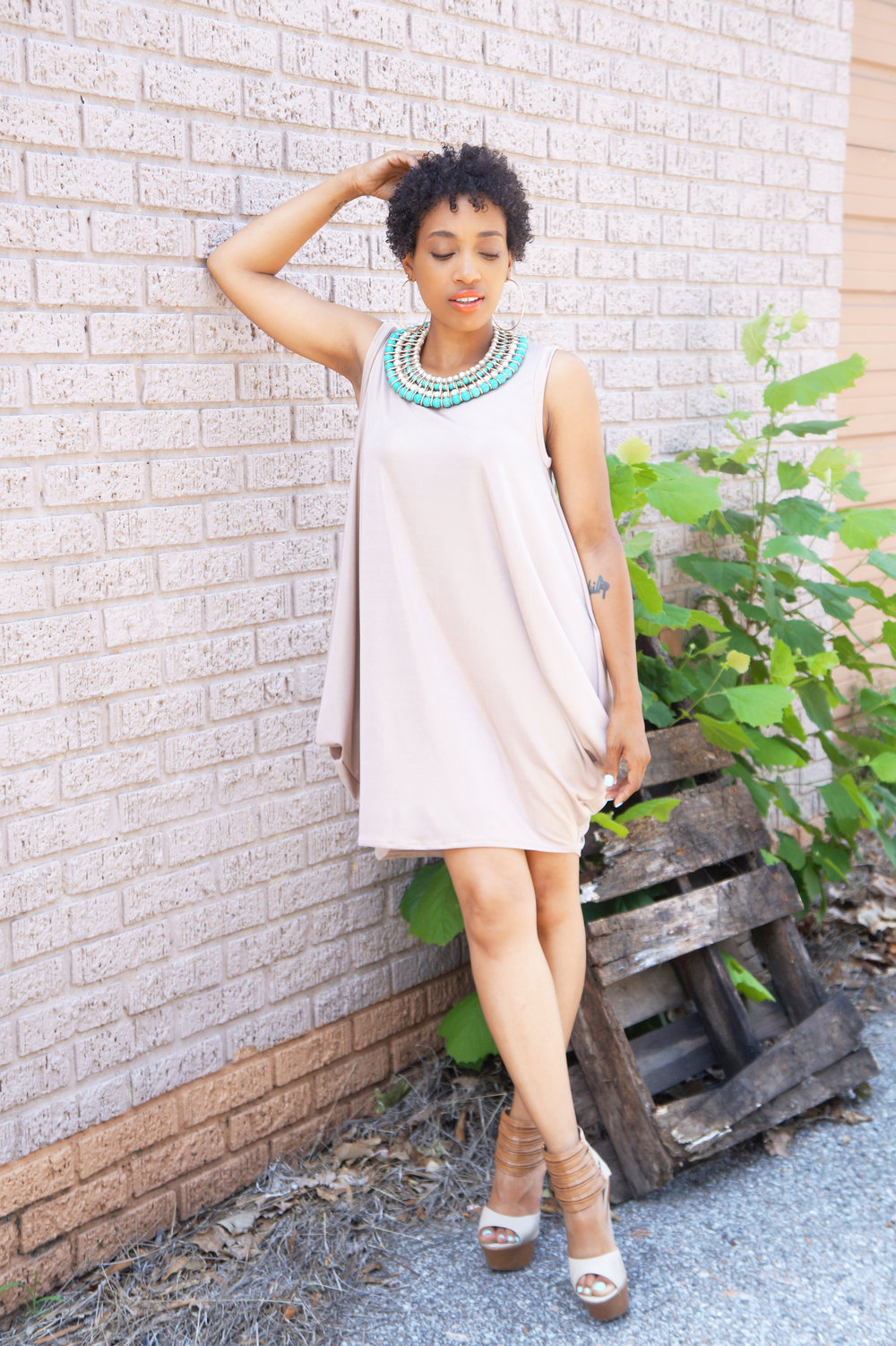 Brunch and Sew Sewing Blog features a draped dress inspiration