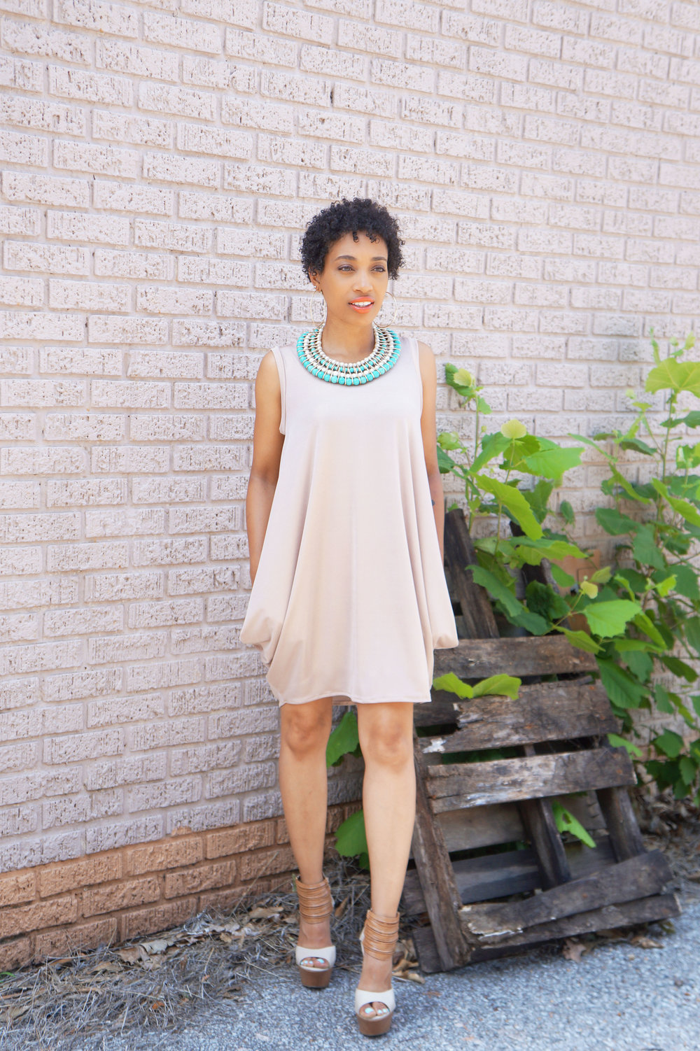 Brunch and Sew Memphis Sewing Blogger shares the draped dress inspiration