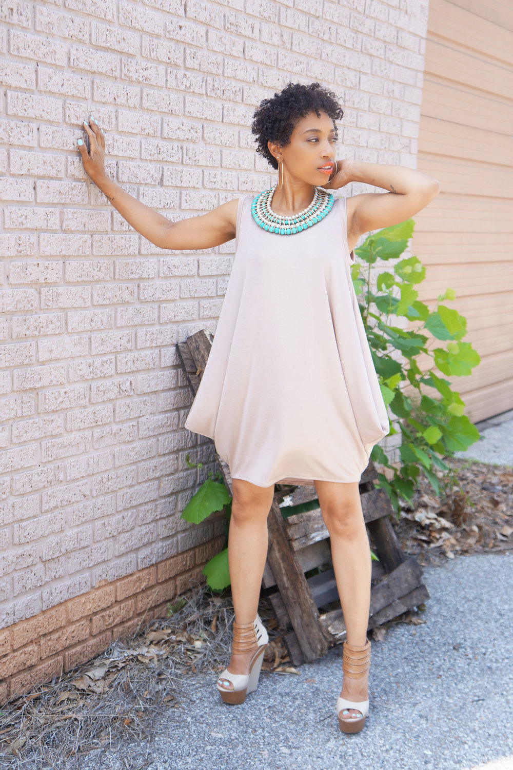 Brunch and Sew Memphis Sewing Blogger shares a draped dress inspiration