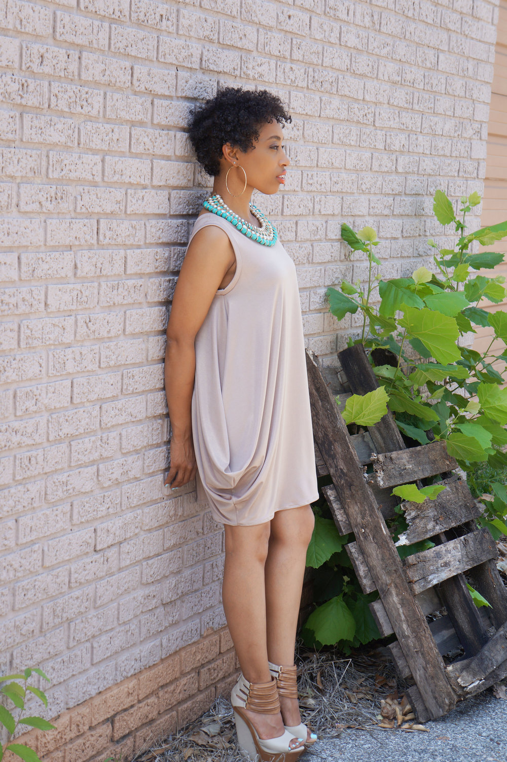 Brunch and Sew Memphis Fashion Blogger shares a draped dress inspiration
