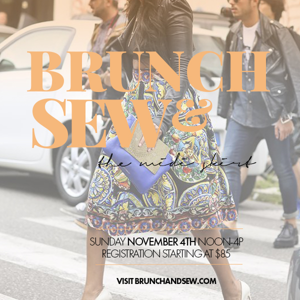 Memphis Fashion Blogger Brunch & Sew promotes its next sewing workshop