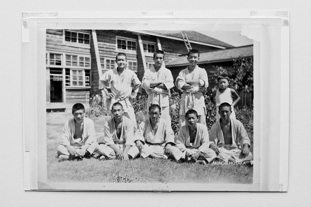 Akinori Hosaka (far right, front row) at his high school Judo club.
