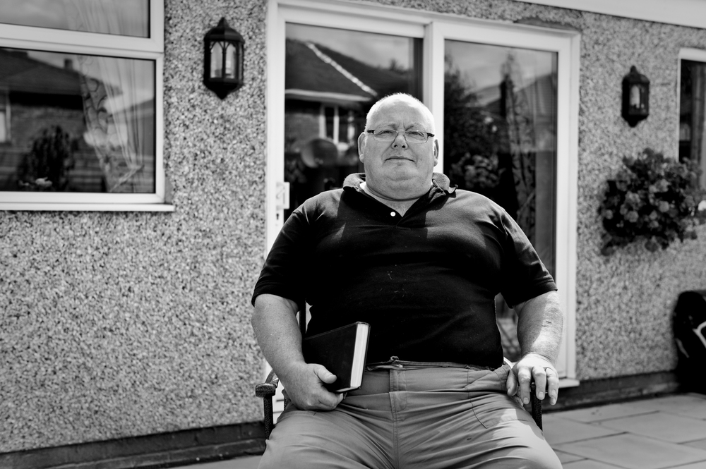 Richard Barraclough was a great friend to Aki.  Photographed at his home in Urmston, Manchester 2010.