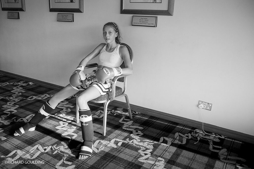 History repeats itself, Dakota Ditcheva relaxes after winning her fight.