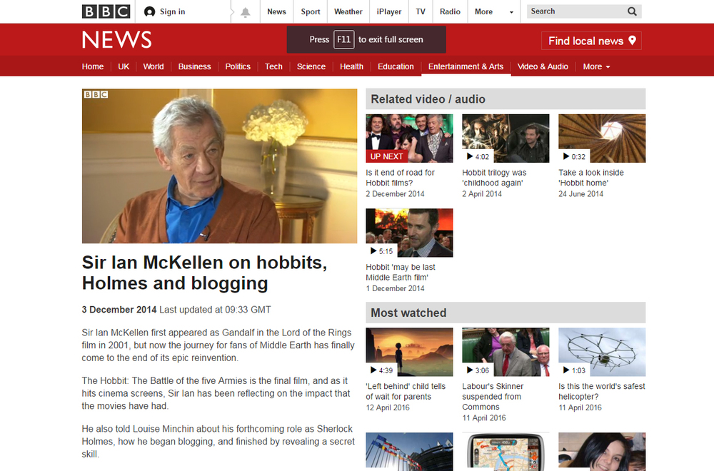 BBC Breakfast Sir Ian McKellen