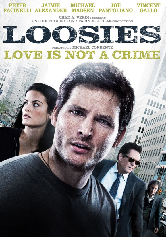 Loosies - I executive produced this feature film for Facinelli Films and Chad Verdi Productions, written by Peter Facinelli starring Jaimie Alexander, Michael Madsen, Vincent Gallo and Joe Pantoliano.   Loosies was acquired by IFC Films for distribution (Variety):  http://variety.com/2011/film/markets-festivals/ifc-takes-loosies-1118042464/      IFC:  http://www.ifcfilms.com/films/loosies       IMDB:   http://www.imdb.com/title/tt1568337/fullcredits?ref_=tt_ov_st_sm      <