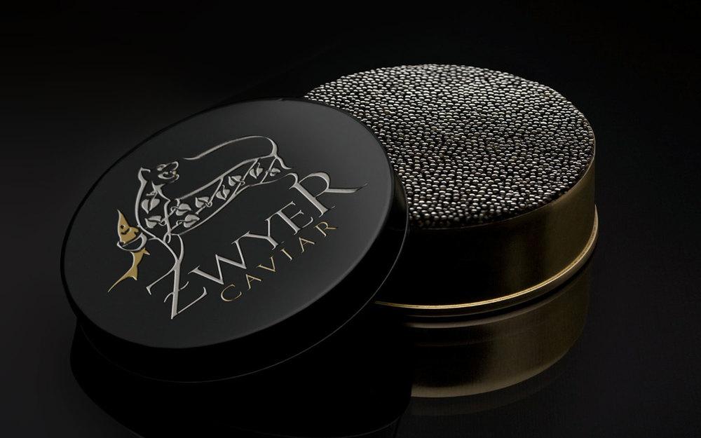 Zwyer caviar branding