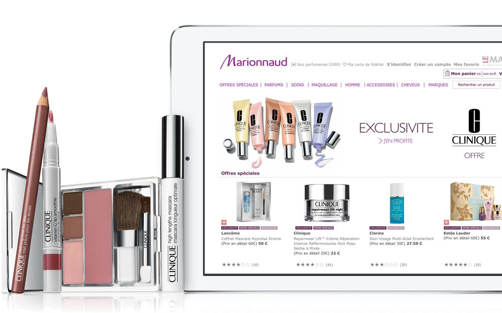 Marionnaud Paris website and retail