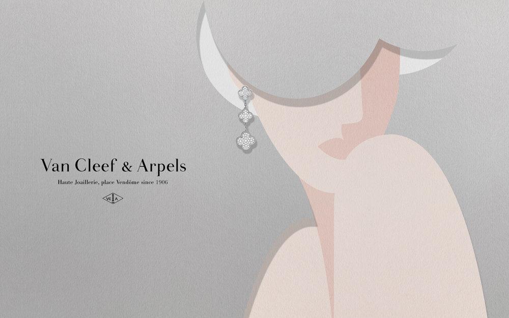 Van Cleef & Arpels art direction & illustration