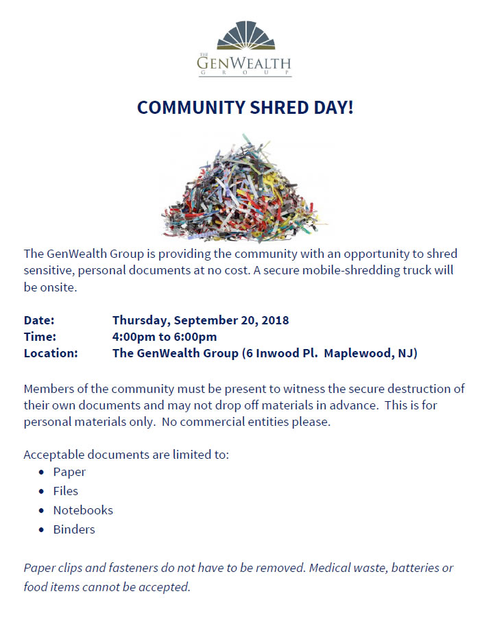Community Shred Day — Maplewood is Green