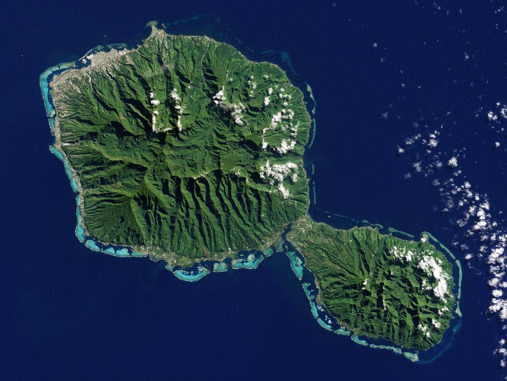 Tahiti vue par la NASA