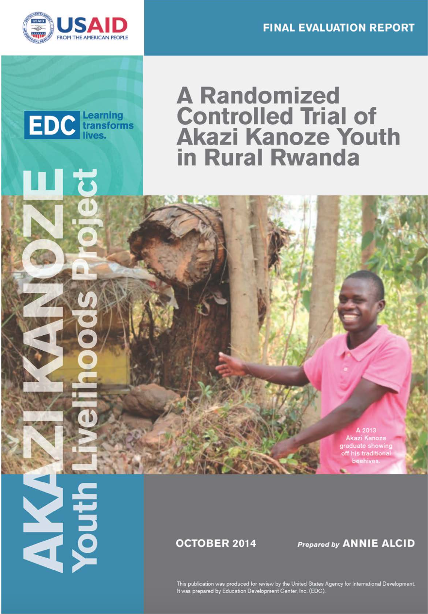 REPORT: Randomized Control Trial of Akazi Kanoze Youth in Rural Rwanda
