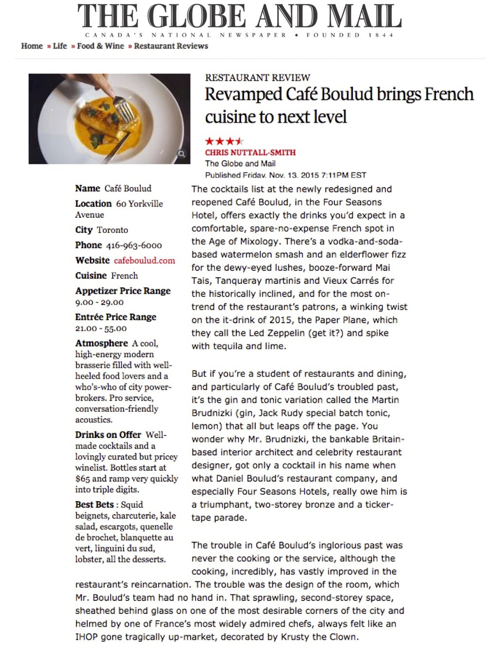 Cafe Boulud Toronto - The Globe and Mail, 11.13.15.jpg