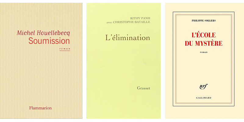 Classic book designs from Flammarion, Grasset and Gallimard.