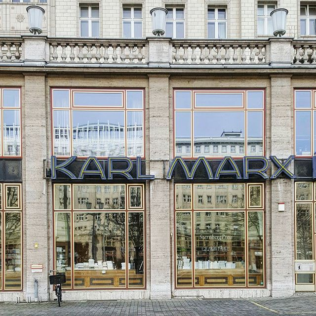 Manifesto shopping in Berlin.  #berlin #instaberlin #diestadtberlin #berlinarchitecture #lookup #karlmarx #travel #streetscape #igersberlin #berlinliebe #berlinstyle #berlino #communism #instatravel #bookstore #igerstravel #architecture #travelgram #ichliebeberlin #iloveberlin #books