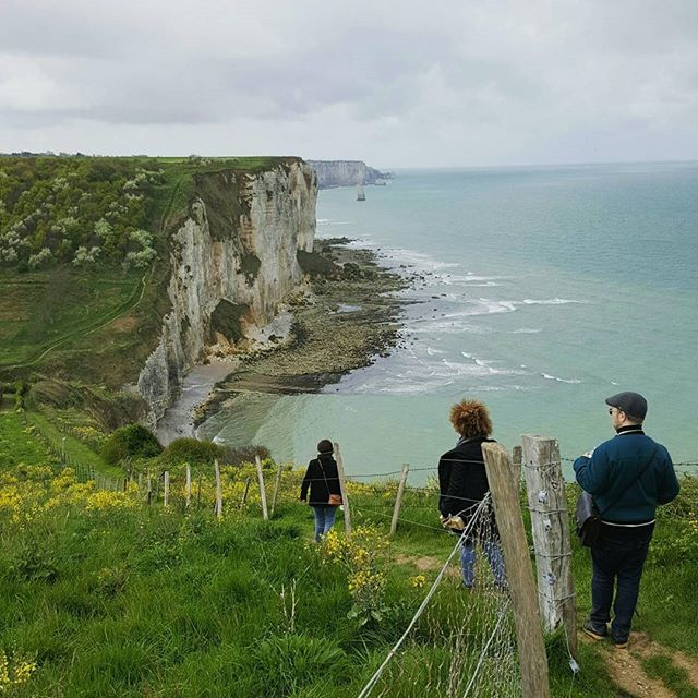 Hiking along the beautifully savage cliffs in Normandy.  #normandy #etant #yport #fecamp #normandie #france #topfrancephoto #vscofrance #cliffs #travel #vert #instatravel #igerstravel #travelgram #printemps #green #nature #hiking