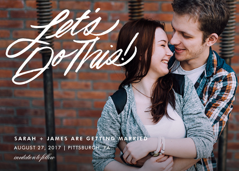 Let's do this save the date @ photoaffections.com
